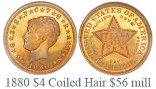 1880 Coiled Hair Stella, Judd-1660, PR67
