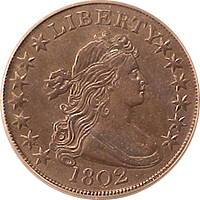 1802 Draped Bust Half Dollar