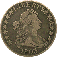 1803 Draped Bust Half Dollar