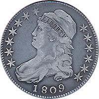 1809 Capped Bust Half Dollar