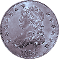 1824 Capped Bust Quarter