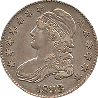 1833 Capped Bust Half Dollar