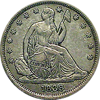1838 Seated Liberty Dime