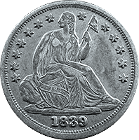 1839 Seated Liberty Dime