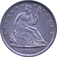 1839 Seated Liberty Half Dollar