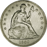 1840 Seated Liberty Dollar