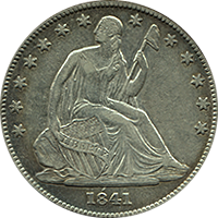 1841 Seated Liberty Half Dollar