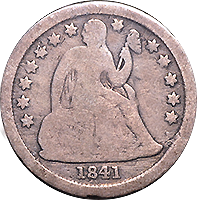 1841 O Seated Liberty Dime