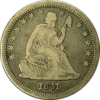 1841 O Seated Liberty Quarter
