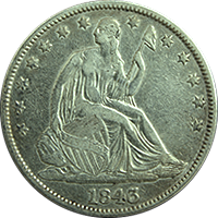 1843 Seated Liberty Half Dollar