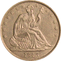 1843 O Seated Liberty Half Dollar