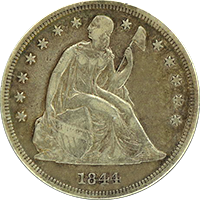1844 Seated Liberty Dollar