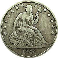 1844 O Seated Liberty Half Dollar