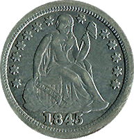 1845 O Seated Liberty Dime