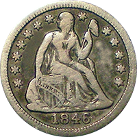 1846 Seated Liberty Dime