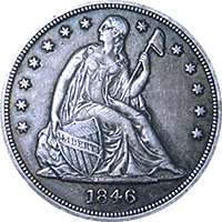 1846 Seated Liberty Dollar
