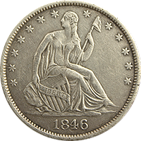 1846 Seated Liberty Half Dollar