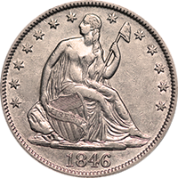 1846 O Seated Liberty Half Dollar