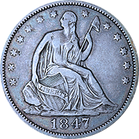 1847 Seated Liberty Half Dollar