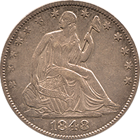 1848 O Seated Liberty Half Dollar