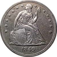 1849 Seated Liberty Dollar