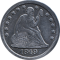 1849 Seated Liberty Quarter