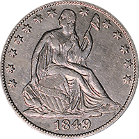 1849 O Seated Liberty Half Dollar