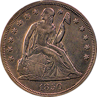 1850 O Seated Liberty Dollar