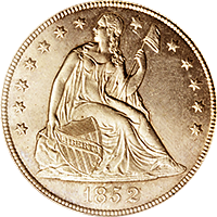 1852 Seated Liberty Dollar