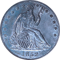 1852 Seated Liberty Half Dollar