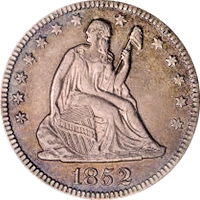 1852 Seated Liberty Quarter