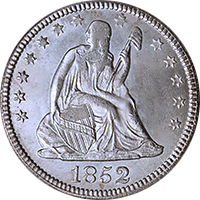 1852 O Seated Liberty Quarter