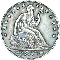 1853 O Seated Liberty Half Dollar