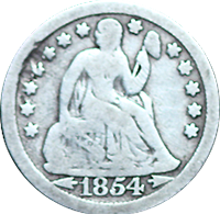 1854 O Seated Liberty Dime