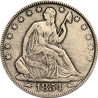1854 O Seated Liberty Half Dollar