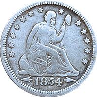 1854 O Seated Liberty Quarter