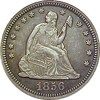 1856 Seated Liberty Quarter