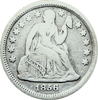 1856 S Seated Liberty Dime