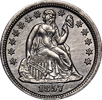 1857 Seated Liberty Dime