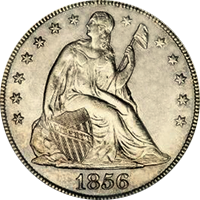 1857 Seated Liberty Dollar
