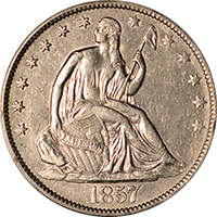 1857 O Seated Liberty Half Dollar