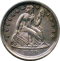 1859 O Seated Liberty Dime
