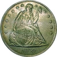 1859 O Seated Liberty Dollar