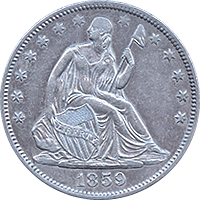 1859 O Seated Liberty Half Dollar