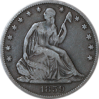 1859 S Seated Liberty Dollar