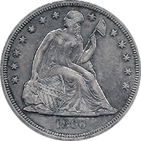 1860 O Seated Liberty Dollar