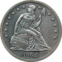 1862 Seated Liberty Dollar Value Cointrackers