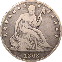 1863 Seated Liberty Half Dollar