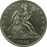 1863 S Seated Liberty Half Dollar