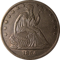 1864 S Seated Liberty Half Dollar Value | CoinTrackers